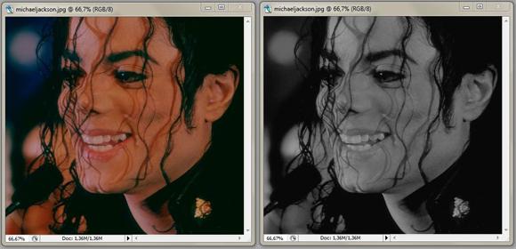 Photoshopta resimleri siyah beyaz yapmak
