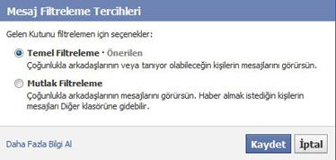 Facebook mesajlar özelliğini güncelledi