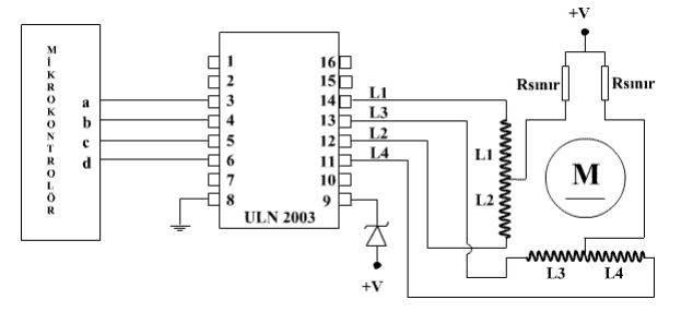 Step Motor ULN2003 Entegreli Sürücü Devresi