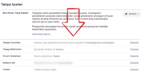 facebook takipcileri acma