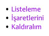 CSS ile Listeleme İşaretlerini Kaldırma Nasıl Yapılır?