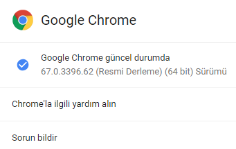 Google Chrome Sürümünü (Versiyonunu) Öğrenmek