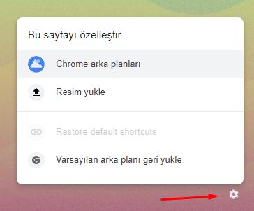 Chrome'da Yeni Sekme Sayfası Arka Planı Değiştirmek