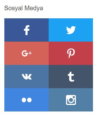 Blogger için Responsive Sosyal Medya Butonları Yapımı