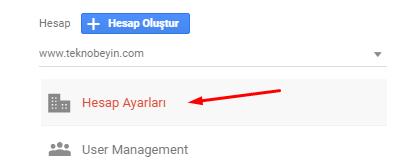 Google Analytics'de Hesap Adı Değiştirmek
