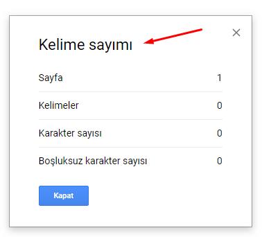 Google Dokümanlar Kelime Sayısı Öğrenme Nasıl Yapılır?