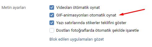 VKontakte'da GIF'leri Otomatik Oynatma Özelliğini Kapatmak