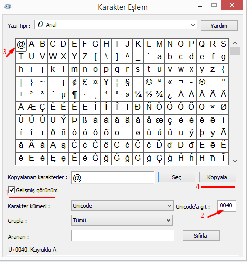 Bilgisayarda Klavyede Mail İşareti Nasıl Yapılır?