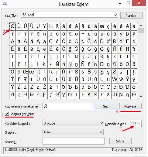Bilgisayarda Klavyede Boş Küme İşareti Nasıl Yapılır?