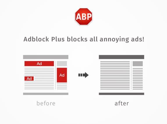 Firefox için Güçlü Reklam Engelleyici: Adblock Plus