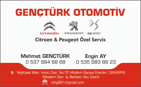 Sakarya'da Citroen ve Peugeot Servisi: Gençtürk Otomotiv