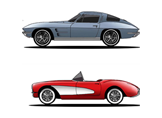 Ford Mustang, Dodge Challenger ve Chevy Corvette