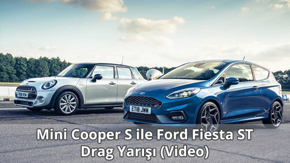 Mini Cooper S ile Ford Fiesta ST Drag Yarışı Video İzle