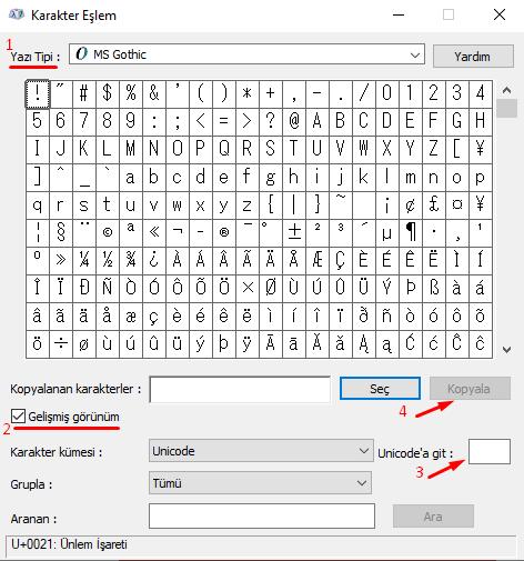 Klavyede Satranç İşaretleri (Sembolleri) Nasıl Yapılır?