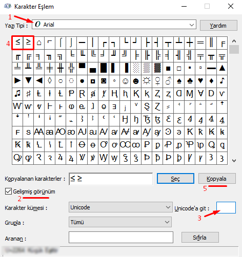 Bilgisayarda Klavyede Küçük Eşit - Büyük Eşit İşareti Nasıl Yapılır?