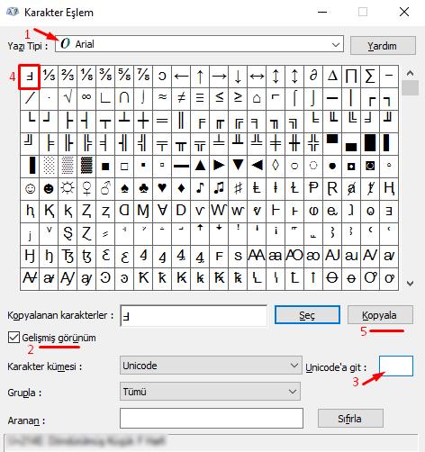 Klavyede Döndürülmüş Ters F Nasıl Yapılır?