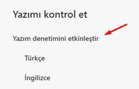 Microsoft Edge Insider Yazım Denetimini Kapatmak