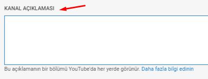 YouTube Kanal Açıklaması Ekleme Nasıl Yapılır?