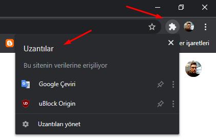 Google Chrome Eklentiler Menüsü Butonu Oluşturalım
