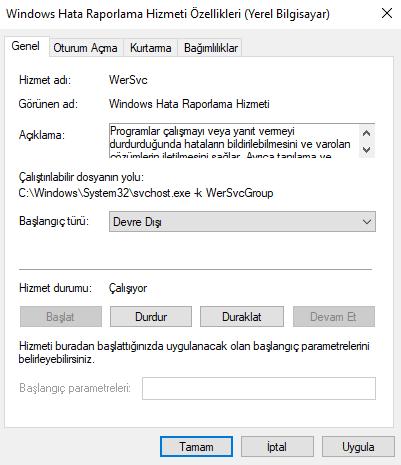Windows 10 werfault.exe Hatası Çözümü