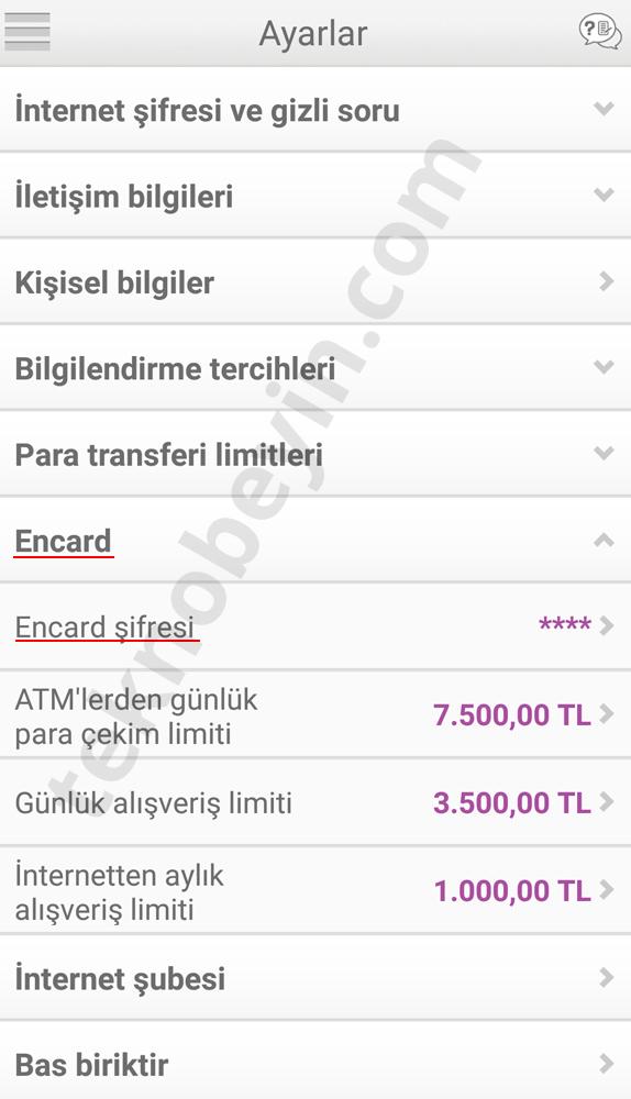 Enpara Banka Kartı Şifresi Değiştirme