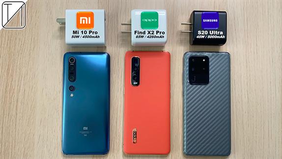 Oppo Find X2 Pro, Mi 10 Pro ve Galaxy S20 Ultra Şarj Testi