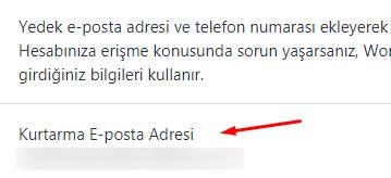 WordPress.com Kurtarma E-Posta Adresi Nasıl Eklenir?