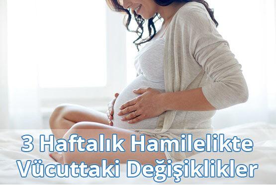 3 Haftalık Hamilelikte Vücuttaki Değişiklikler