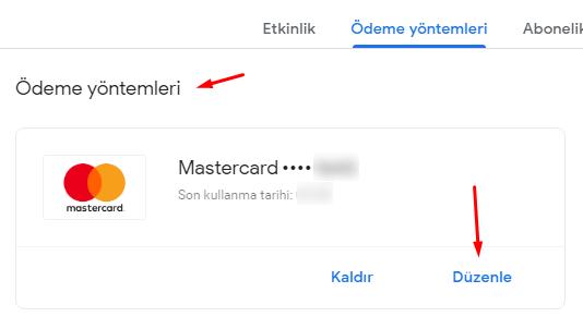 Google Pay için Ödeme Yöntemi Güncelleme Nasıl Yapılır?