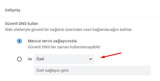 Google Chrome Güvenli DNS Değiştirme Nasıl Yapılır?