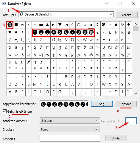 Bilgisayarda Klavyede Yuvarlak İçinde Rakamlar Nasıl Yapılır?