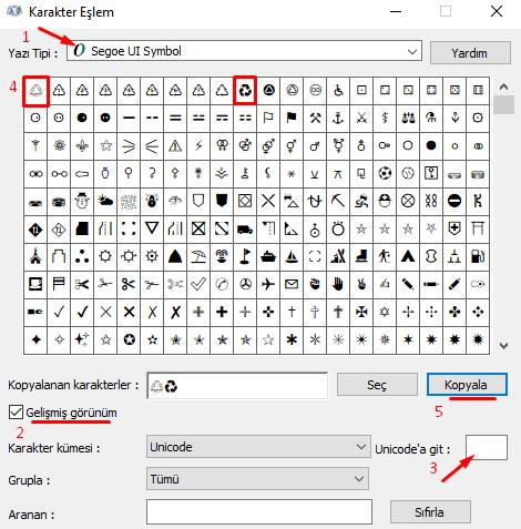 Bilgisayarda Klavyede Geri Dönüşüm İşareti-Simgesi-Sembolü Nasıl Yapılır?