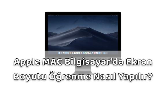 Apple Bilgisayar Ekran Boyutu Öğrenme