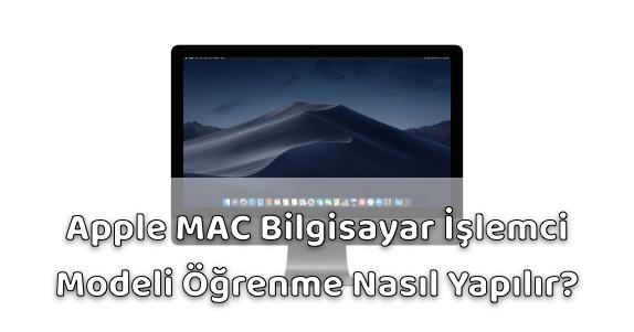 Apple iMac İşlemci Öğrenme
