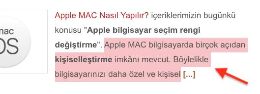 Apple MAC Bilgisayar Metin Seçim Rengi Değiştirme Nasıl Yapılır?