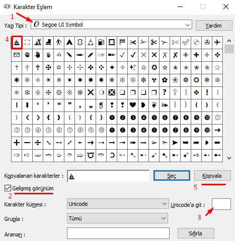 Bilgisayarda Klavyede Yelken İşareti-Sembolü-Simgesi Nasıl Yapılır?