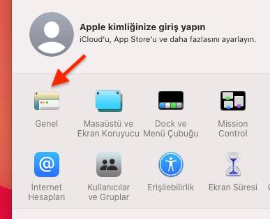 iMac Karanlık Modu Açmak