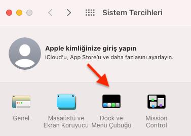 Apple Bilgisayar Dock Boyutu Değiştirme