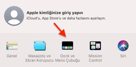 Apple Dock Gizlemek