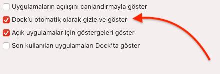 MAC Dock Gizleme Nasıl Yapılır?