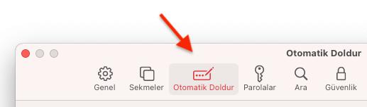 MAC Safari Otomatik Form Doldurmayı Kapatmak