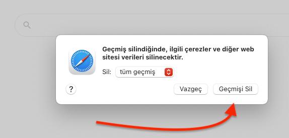Apple Bilgisayar Safari Geçmişi Temizlemek