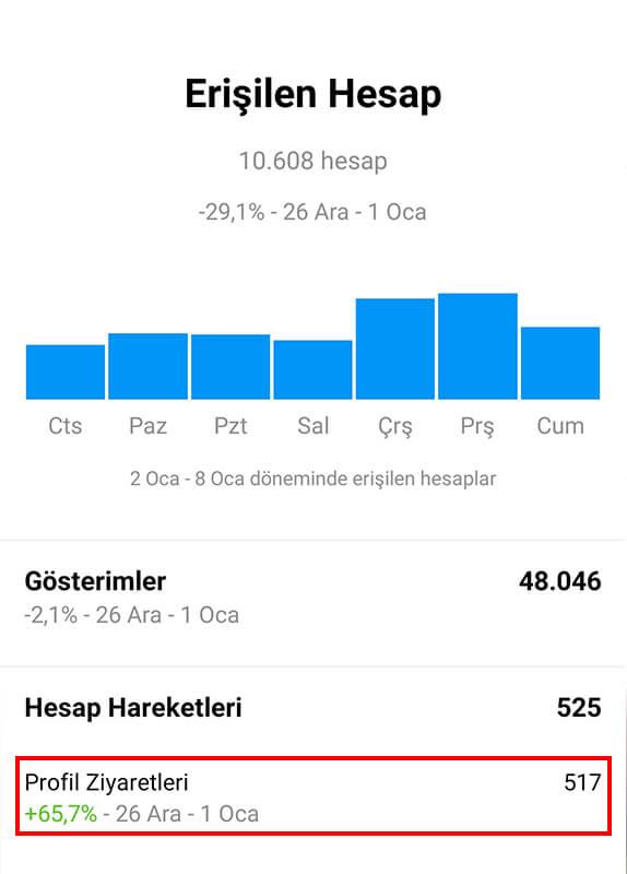 Instagram Profilime Kaç Kişi Baktı? Profil Ziyaretlerini Görme - 3