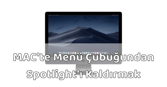 MAC Bilgisayar Menü Çubuğundan Spotlight Kaldırmak