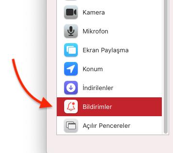 Apple Safari'de Bildirim İsteklerini Açma Nasıl Yapılır?