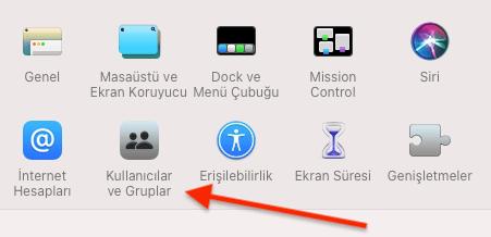 MAC Bilgisayar Kullanıcı Parolasını Değiştirme