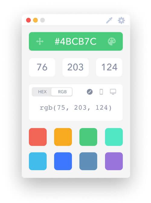 Apple MAC Bilgisayar için Renk Seçim Uygulaması: Drop - Color Picker