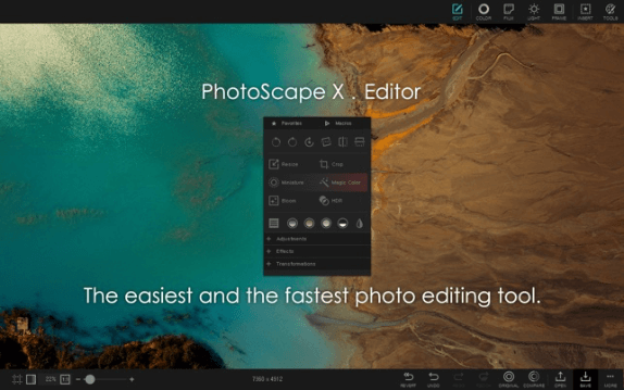 Apple MAC Bilgisayar için Photoshop Alternatifi: PhotoScape X