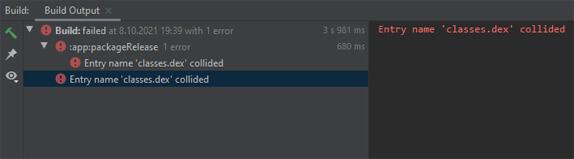 "Android Studio ""Entry name 'classes.dex' collided"" Hatası Çözümü"